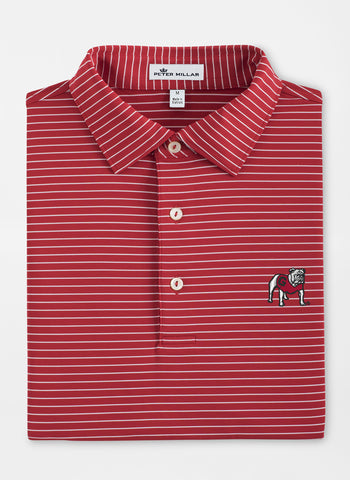 Peter Millar Tuition Stripe Stretch Jersey Polo - Georgia