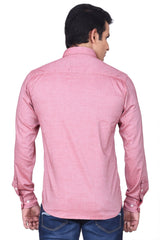 MOUSTACHE - SLIM FIT COTTON MEN'S SOLID SHIRT - ATLANTIC PINK
