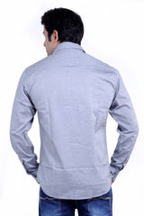 MOUSTACHE Slim fit Cotton Mens Shirt - Grey