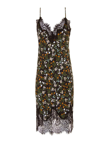 Gold Hawk COCO PRINT SILK SLIP DRESS sales outlet | onslowness