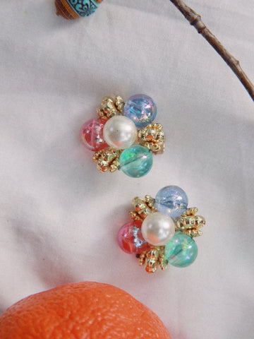 Summer candy (Vintage Clip-on Earrings)