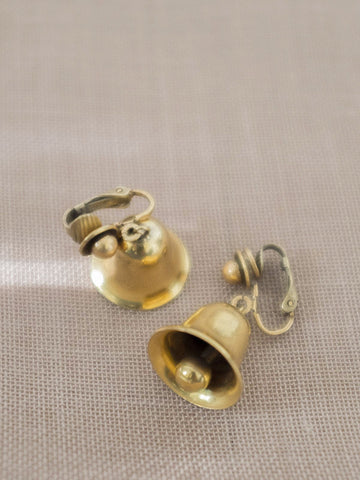 Golden Bells vintage clip earring womens jewellery | On Slowness