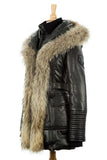 Jenny Leather Parka With Fur Trim - Dejavu NYC