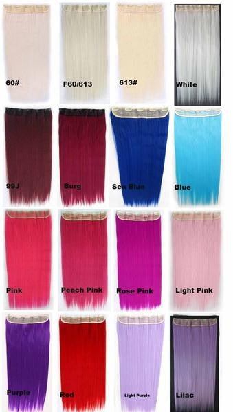 70 Colors candy colors 5 Clip-in Marley Braid Hair European And American Hot Wigs Wholesale Hair Color Piece hairpieces New Fashion Women wig Bath & Beauty Ombre Hair Extensions Colorful Hairpieces GS-666,1PC