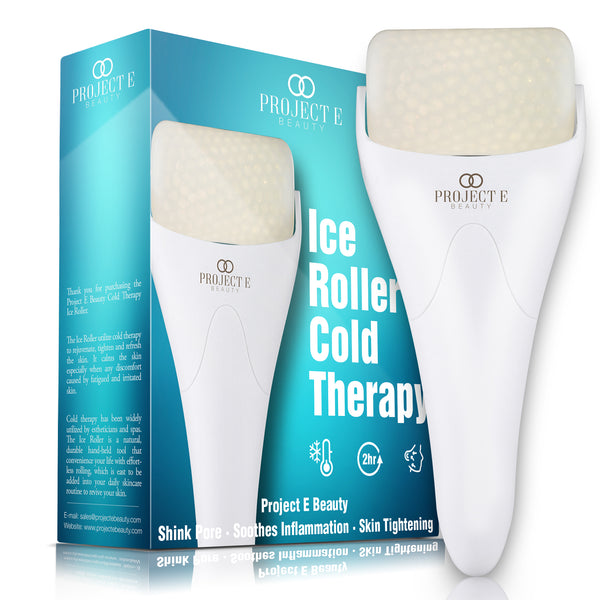 Projecr E Beauty Ice Roller Massager for Face Eye Body Massage Cooling Therapy Cool Roller Skin Tightening Skin Care Reduce Wrinkles Under Eye Puffiness Dark Circles Muscle Soreness Pain Relief Redness Inflammation