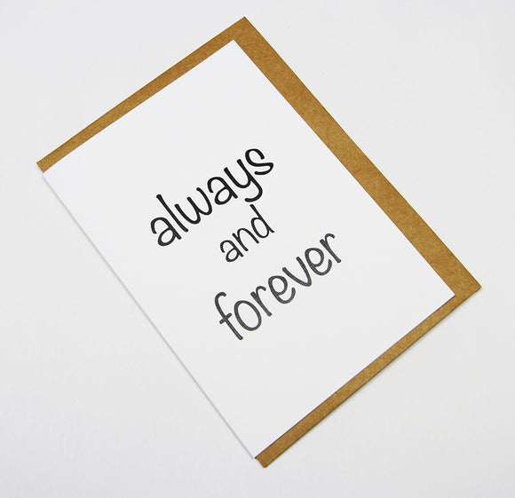 always and forever A6 Card-Gift Card-white linen-dear mabel