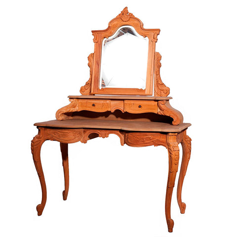 Roxanne Dressing Table 4 Drawer with Bevelled Mirror