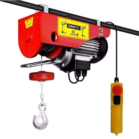 Giantz Electric hoist winch 18M 1000KG - Winchworld