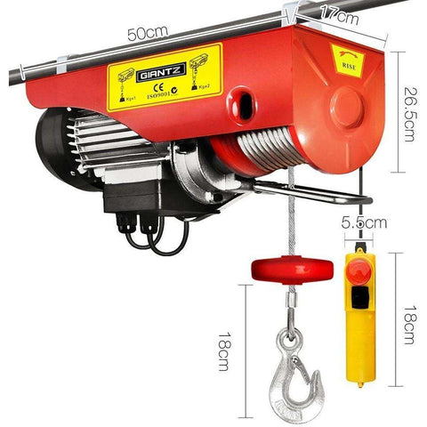 Giantz Electric hoist winch 18M 1000KG EH-18M-1000A