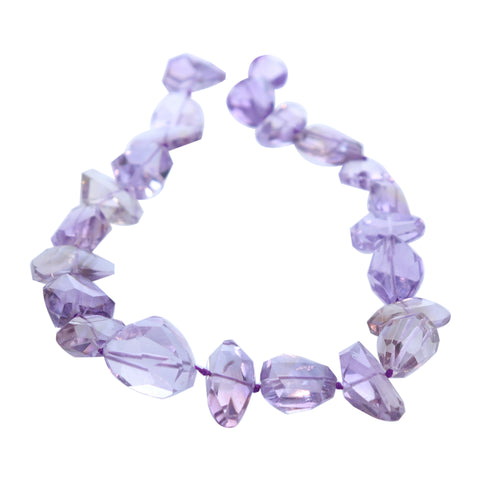 AMETRINE BEADS Faceted Free Form 15x21mm