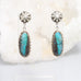 CHRYSOCOLLA EARRINGS LONG SHAPE STERLING BISBEE, AZ