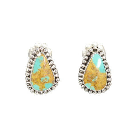 KINGMAN TURQUOISE EARRINGS Portrait Post Style