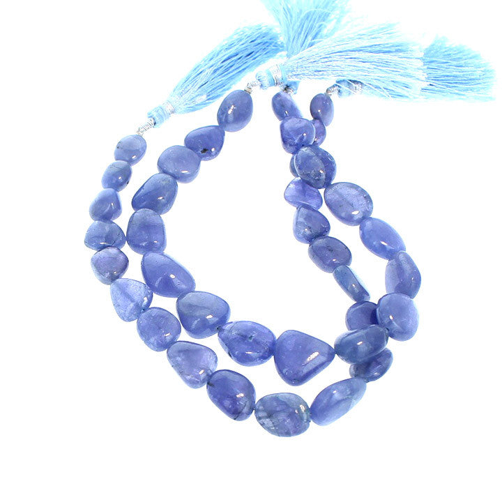 TANZANITE BEADS GRADUATED POTATO 13-17mm