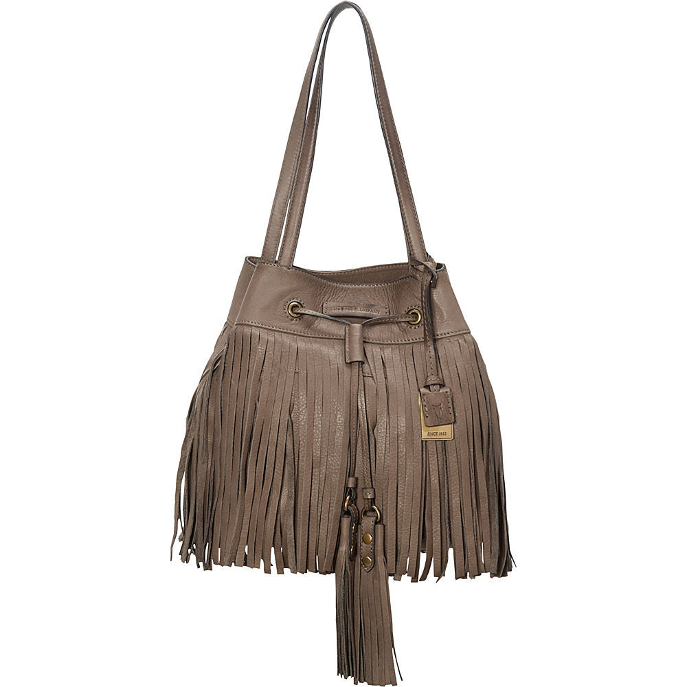 Frye Heidi Fringe Bucket in Grey 34DB517-GRY