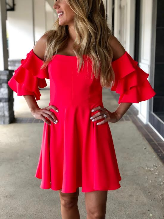 Amanda Uprichard Shelby Dress in Electric Rouge CI-20447