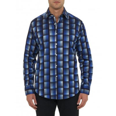 Robert Graham Homestead Sport Shirt Navy RF141008CF