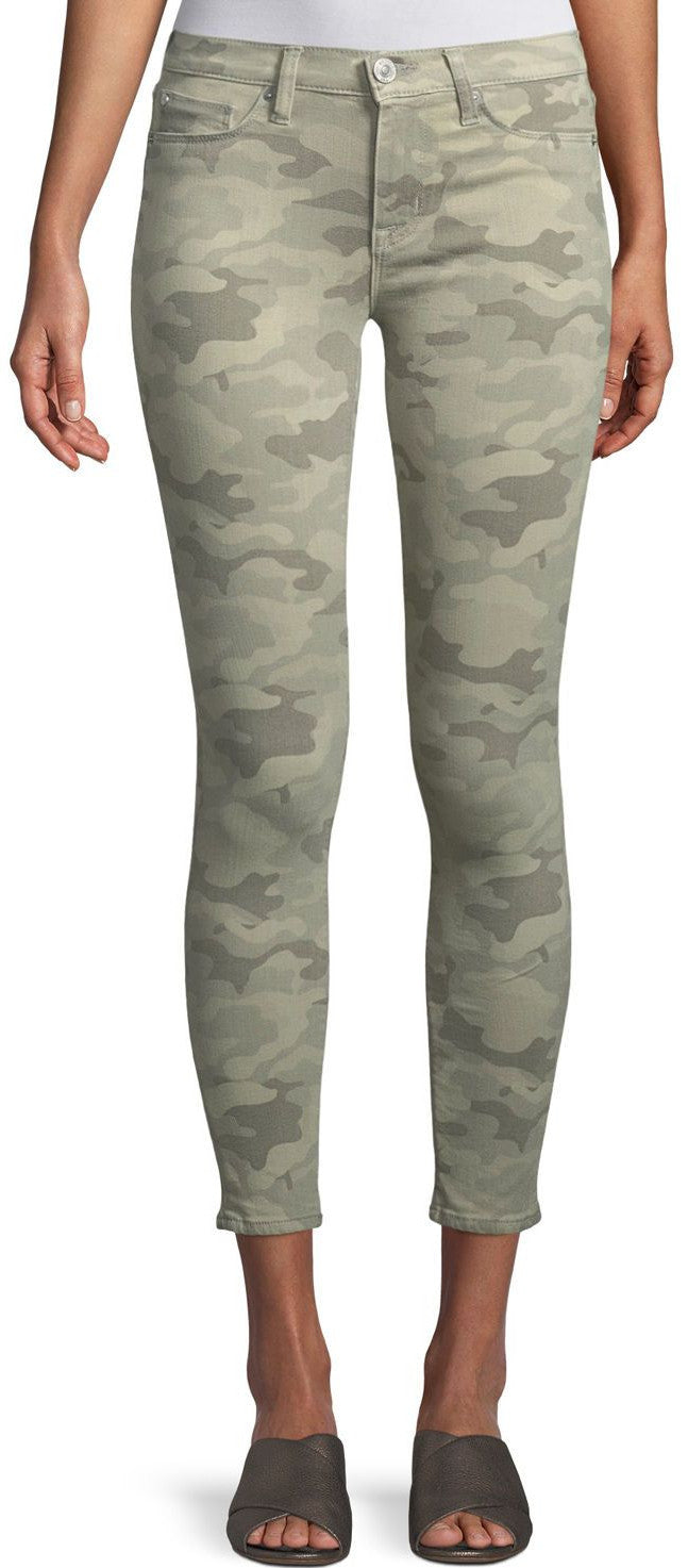 Hudson Nico Midrise Super Skinny Ankle Jeans in Surplus Camo WMA407TEN