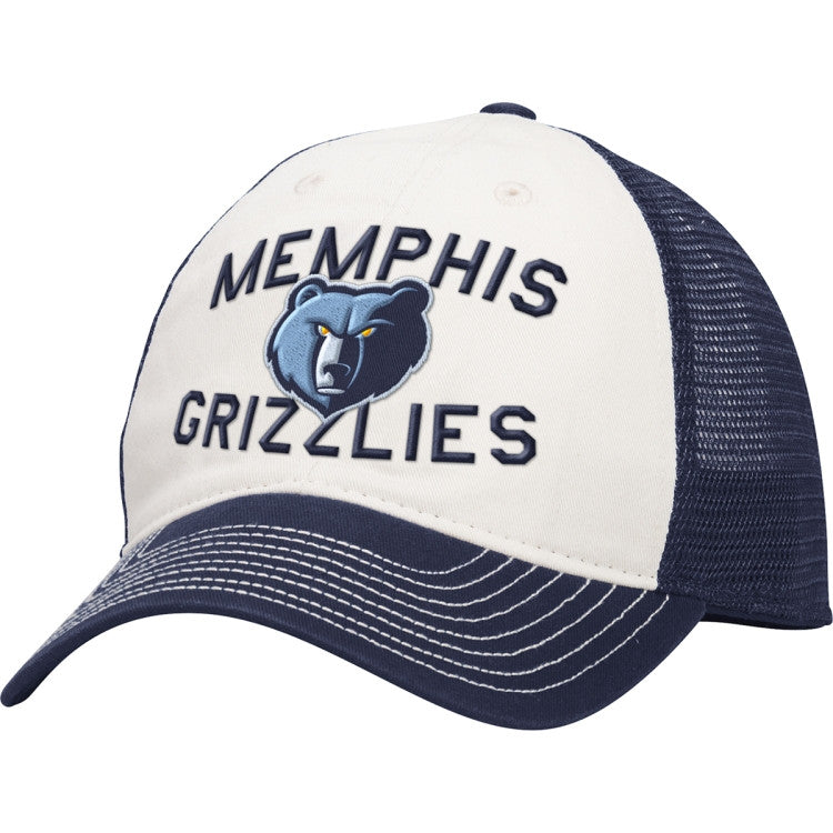 Adidas Memphis Grizzlies Slouch Navy Mesh Snap-Back Hat EW24Z