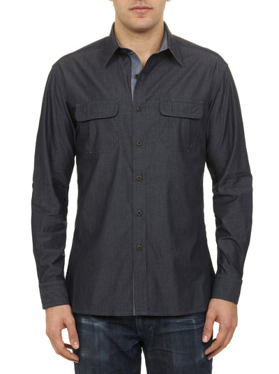 Robert Graham Brass Monkey Sport Shirt in Indigo RF141210TF