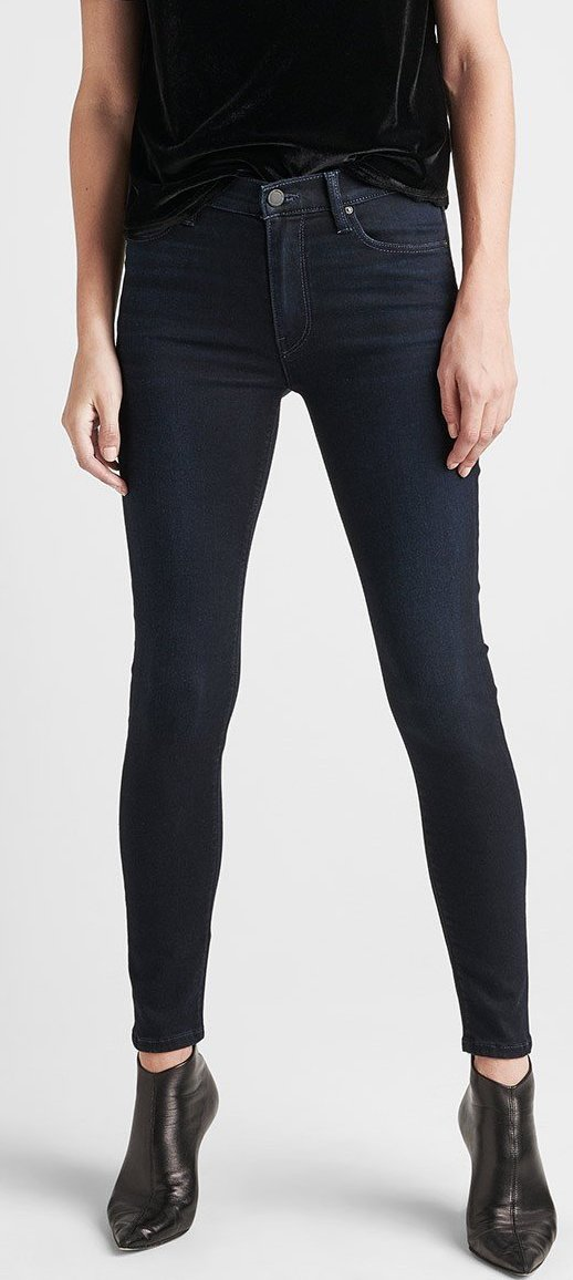 Hudson Barbara High Waist Super Skinny Ankle in Idle WHA407DPF