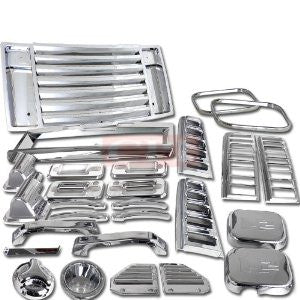 Hummer 03-05 Hummer H2 22 Pieces Chrome Kit