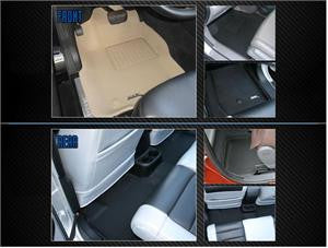 Acura 2007- Mdx  Rear back Row Seating 1 Pc Beige 3D  Floor Mat Liner