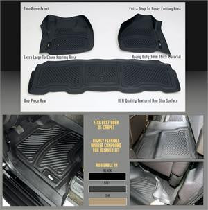 Cadillac Ext 2007-10 Ext    Interior Products Floor Mats/  Liners Front - Black Black Products Performance  2007,2008,2009,2010