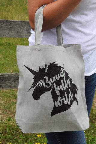 Beautifully Wild Unicorn Tote Bag - Canvas Bag