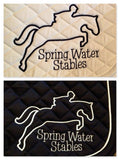 Embroidered Jumper Outline Saddle Pad - The Houndstooth Horse  - 2