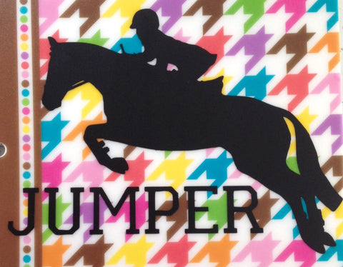 Jumper Horse Vinyl Decal - Matte - The Houndstooth Horse  - 1