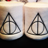 Harry Potter Deathly Hallows Always Logo Embroidered Saddle Pad & Polo Wraps Set - The Houndstooth Horse  - 2