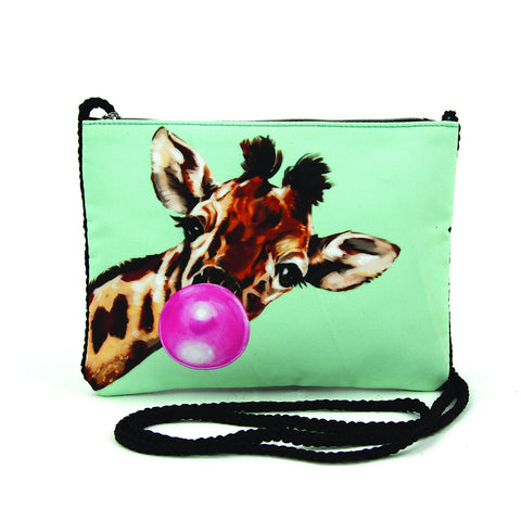 Bubble Gum Giraffe Crossbody Pouch