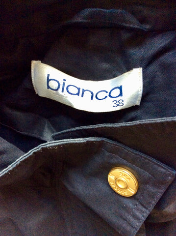 BIANCA NAVY BLUE SEA SPORTS LIGHT WEIGHT JACKET SIZE 38 FIT UK 16