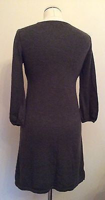 Boden Brown Knit V Neck 3/4 Sleeve Dress Size 8 - Whispers Dress Agency - Womens Dresses - 2