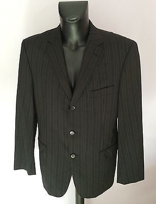 Smart Hugo Boss Charcoal Pinstripe Stretch Wool Suit Jacket Size 42 - Whispers Dress Agency - Mens Suits & Tailoring - 1