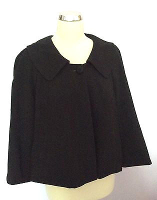 Monsoon Black Swing Style 3/4 Sleeve Jacket Size 16 - Whispers Dress Agency - Sold - 1