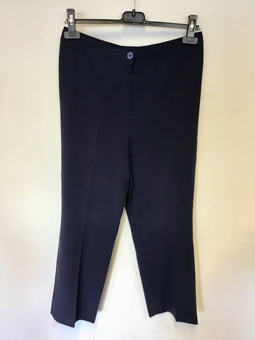 BASLER NAVY BLUE ANKLE GRAZER TROUSERS SIZE 12
