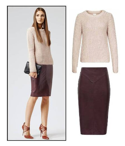 BRAND NEW REISS DAVIDSON NEUTRAL CHUNKY KNIT JUMPER SIZE XS