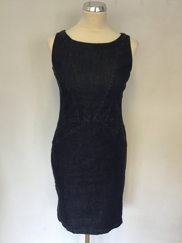 ARMANI JEANS DARK BLUE DENIM PENCIL DRESS SIZE 44 UK 12