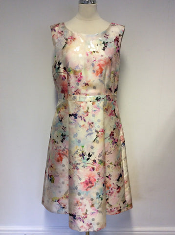 BRAND NEW GINA BACCONI FLORAL PRINT SPECIAL OCCASION DRESS SIZE 16