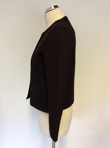 AXEL BLACK JACKET & WHITE PENCIL SKIRT SUIT SIZE UK 10