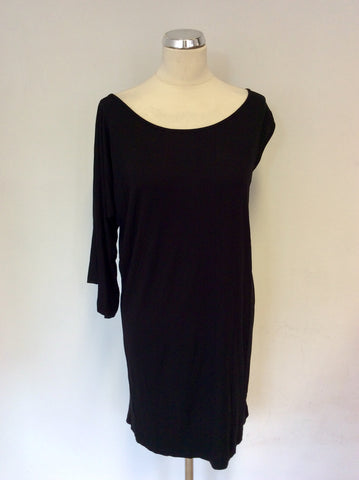 BRAND NEW CALVIN KLEIN BLACK ONE SLEEVE T SHIRT DRESS SIZE 44 UK 16