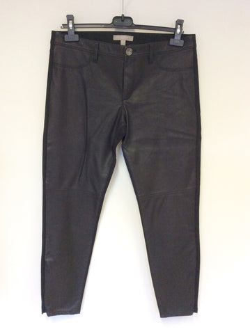 BANANA REPUBLIC SLOAN BLACK FAUX LEATHER JEGGINGS/TROUSERS SIZE 8 UK 12 - Whispers Dress Agency - Womens Trousers - 1