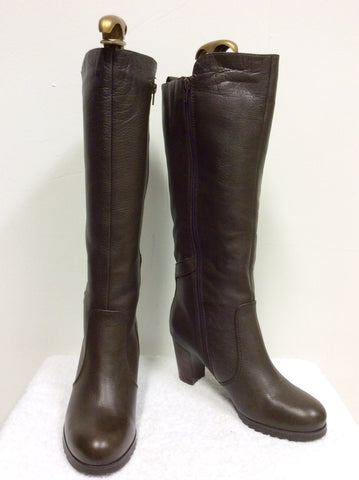 BRAND NEW NATURALIZER BROWN FUR LINED BOOTS SIZE 6.5/40 - Whispers Dress Agency - Womens Boots - 1
