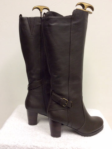 BRAND NEW NATURALIZER BROWN FUR LINED BOOTS SIZE 6.5/40 - Whispers Dress Agency - Womens Boots - 5