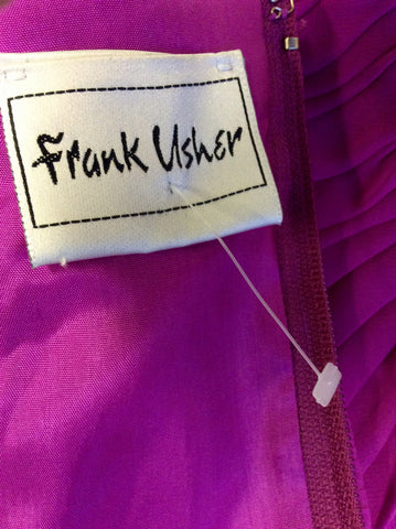 BRAND NEW FRANK USHER FUSCHIA PINK PLEATED CORSET TOP SIZE 16 - Whispers Dress Agency - Womens Tops - 4