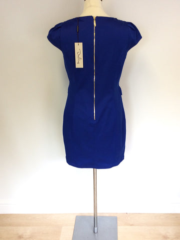 BAND NEW DARLING BLUE TAMARA PENCIL DRESS SIZE L UK 14