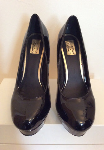 Brand New Kitch Couture Black Patent Platform High Heels Size 7/40 - Whispers Dress Agency - Womens Heels - 3