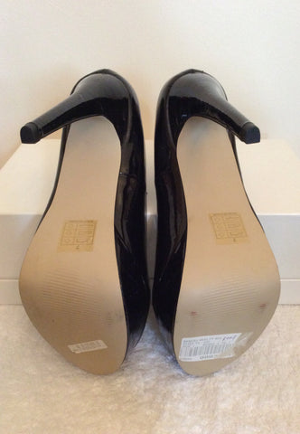 Brand New Kitch Couture Black Patent Platform High Heels Size 7/40 - Whispers Dress Agency - Womens Heels - 5