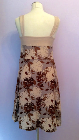 August Silk Floral Print Linen Dress Size 12 - Whispers Dress Agency - Womens Dresses - 2